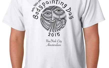 bodypainting day 2015 unisex t-shirt apparel