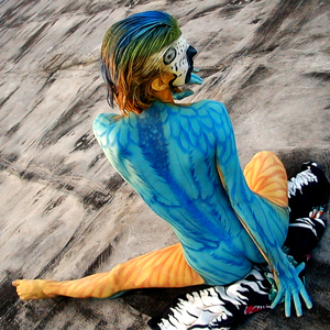 "Reynaldo Cast ""It is a great moment to share with other body painting artists."""