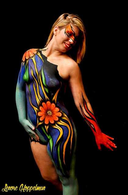 artist lenore koppelman body painting nyc bodypainting day